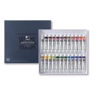 Набор красок акварельных SH Professional 24 цвета в тубах по 7,5мл, картонная коробка