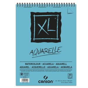 Альбом для акварели Canson Xl 300г/кв.м 29.7*42см 30листов Фин спираль по короткой стороне