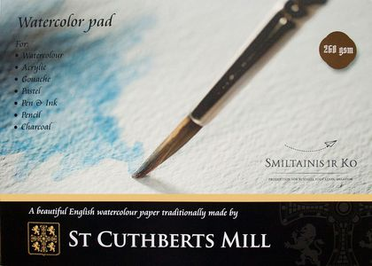 Альбом для акварели целлюлоза 100% St Cuthberts Mill 260 г/кв.м A4 210х297мм, 20л