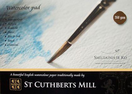 Альбом для акварели целлюлоза 100% St Cuthberts Mill 260 г/кв.м A3 297х420мм, 20л