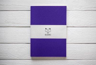 Maxgoodz Скетчбук Large Фиолетовый, A4, 32л, 150г/м2, переплет на нитке