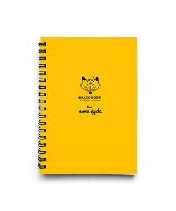 Maxgoodz Скетчбук Sketch Желтый, A5+, 48л, 100г/м2, пружина