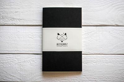Maxgoodz Скетчбук Classic Black, чёрные листы, A5, 32л, 135г/м2, переплет на нитке