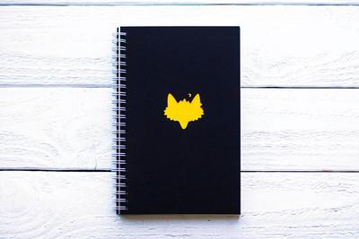 Maxgoodz Скетчбук Classic Fat Желтый, двойная обложка, A5, 48л, 120г/м2, пружина