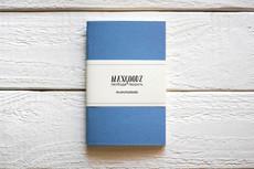 Maxgoodz Скетчбук Pocket Голубой, A6, 32л, 100г/м2, переплет на нитке