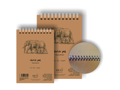 SMLT Альбом Sketch pad Natural Brown А5 80л 135 г/см 5EB-80TS/NTB