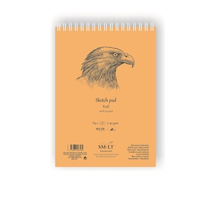 SMLT Альбом Sketch pad Kraft А4 60л 90 г/см НОВИНКА!