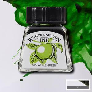"Тушь WINSOR&NEWTON ""DRAWING INKS"" 14 мл, зеленое яблоко"