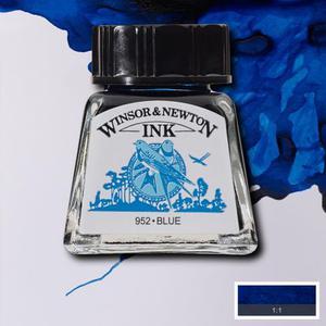 """Тушь WINSOR&NEWTON """"DRAWING INKS"""" 14 мл, синий"""