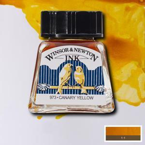 """Тушь WINSOR&NEWTON """"DRAWING INKS"""" 14 мл, желтый канареечный"""