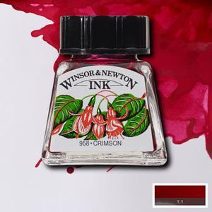 "Тушь WINSOR&NEWTON ""DRAWING INKS"" 14 мл, малиновый"