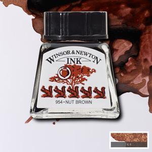 "Тушь WINSOR&NEWTON ""DRAWING INKS"" 14 мл, каштановый"