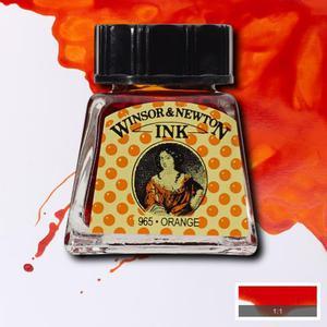 "Тушь WINSOR&NEWTON ""DRAWING INKS"" 14 мл, оранжевый"