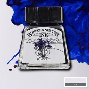 "Тушь WINSOR&NEWTON ""DRAWING INKS"" 14 мл, фиолетовый"