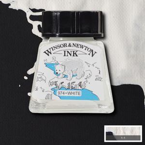 "Тушь WINSOR&NEWTON ""DRAWING INKS"" 14 мл, белый"