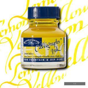 Тушь для каллиграфии WINSOR&NEWTON, 30мл, желтый лимон