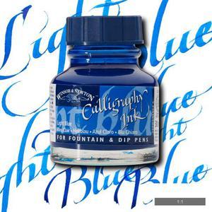 Тушь для каллиграфии WINSOR&NEWTON, 30мл, светло-голубой