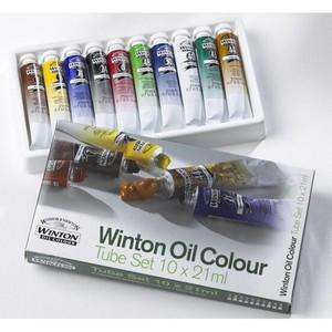 Масляные краски Winton, в наборе, тюбики 10х21мл, в картонной коробке