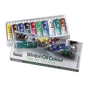 Масляные краски Winton, в наборе, тюбики 10х37мл, в картонной коробке
