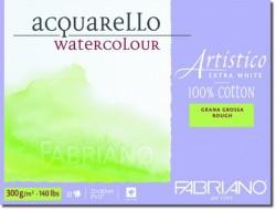 Альбом-склейка для акварели Artistico Extra White (23х30,5см, 20л, 300г/м2 крупн.зерно. Rough, 100% хлопок экстра белая)