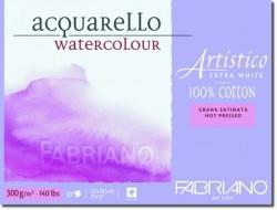 Альбом-склейка для акварели Artistico Extra White (23х30,5см, 20л, 300г/м2 мелкозерн. ColdPress, 100% хлопок экстра белая)