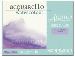 Альбом-склейка для акварели Artistico Traditional White (листы: естеств.белые, крупн.зерно Rough, 100% хлопок, 200г/м2, 25л, 30,5x45,5см, пейзаж)
