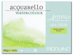 Альбом-склейка для акварели Artistico Traditional White (листы: естеств.белые, крупн.зерно Rough, 100% хлопок, 300г/м2, 20л, 30,5x45,5см, пейзаж)