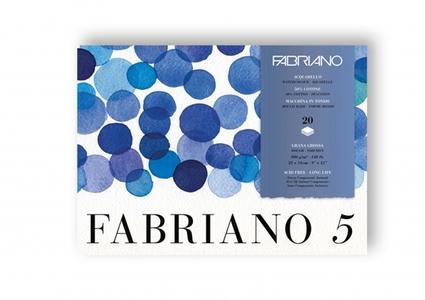 Альбом-склейка для акварели Fabriano Disegno 5 23х31см, 20л, 300г/м2 (крупн.зерно Rough, 50% хлопок, листы: белые)