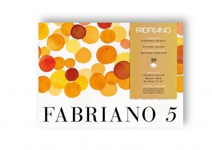 Альбом-склейка для акварели Fabriano Disegno 5 23х31см, 20л, 300г/м2 (средн.зерно Cold Press, 50% хлопок, листы: белые)