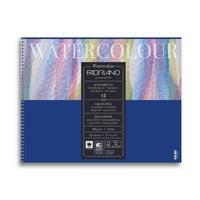 "Альбом для акварели на спирали Fabriano ""Watercolour"" 24x32 см 12 л 300 г, цвет бумаги: белый"
