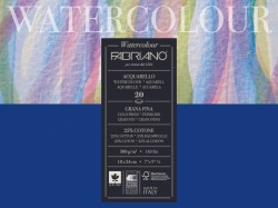 Альбом-склейка для акварели Watercolour (листы: белые, зернист,  25% хлопок, хол.пресс, 300г/м2, 12л, 24x32см, пейзаж)