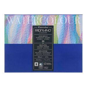 "Блокнот-склейка для акварели Fabriano ""Watercolour"" 24х32 см 20 л 300 г, цвет бумаги: белый"