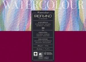 "Блокнот-склейка для акварели Fabriano ""Watercolour"" 24х32 см 20 л 200 г, цвет бумаги: белый"