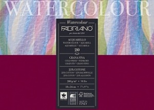 "Блокнот-склейка для акварели Fabriano ""Watercolour"" 30х30 см 20 л 200 г, цвет бумаги: белый"