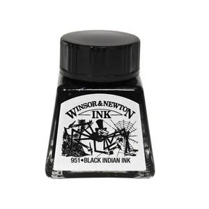 """Тушь WINSOR&NEWTON """"DRAWING INKS"""" 14 мл, черная китайская (""""Паук""""), водоустойчивая"""