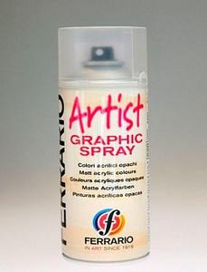 Лак аэрозоль бесцветный ARTIST 200мл №36 матовый