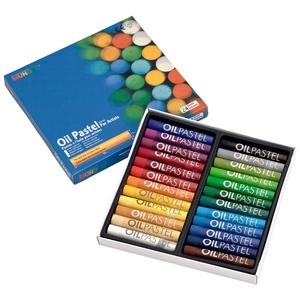 Пастель масляная круглая художественная 24 цвета в картонной коробке