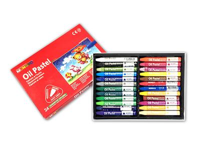 Пастель MUNGYO масляная для начинающих 24 цветов трехгранная в картонной коробке