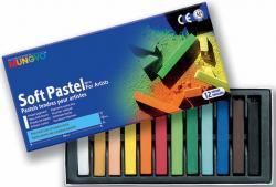 Пастель мягкая квадратная 12 цветов в картонной коробке