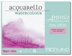 Альбом-склейка для акварели Artistico Traditional White (листы: естеств.белые, зерн, 100% хлопок, гор.пресс, 300г/м2, 20л, 23x30,5см, пейзаж)