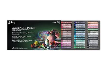 Пастель Gallery мягкая профессиональная квадратная 48 цветов в картонной коробке