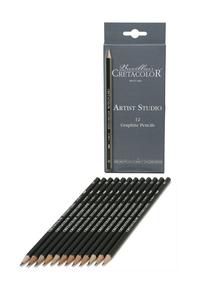 """Набор профессиональных чернографитовых карандашей """"Artist Studio Line"""" - 12 карандашей (твердости: 6B, 4B, 3B, 2B, B, 2xHB, F, H, 2H, 3H, 4H), картонная коробка"""