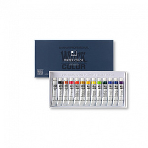 Набор красок акварельных SH Professional 13 цветов в тубах по 7,5мл, картонная коробка