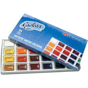 Набор акварели Ладога 24 цвета в картонной упаковке