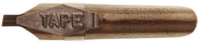Каллиграфическое перо Leonardt для орнамента с плоским наклонным окончанием и накопителем для туши 2 мм