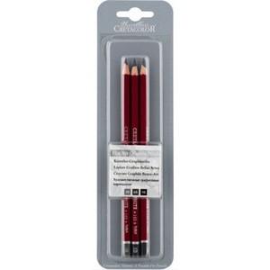 """Набор из 3 профессиональных чернографитовых карандашей """"CLEOS"""" в блистере, твердость 3B,6B,9B"""