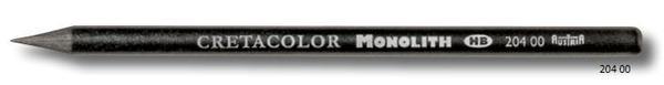 """Чернографитовый карандаш """"MONOLITH"""" без деревянной оболочки, корпус покрыт тонким слоем лака, диаметр 7 мм, длина 146 мм, твердость 2B"""