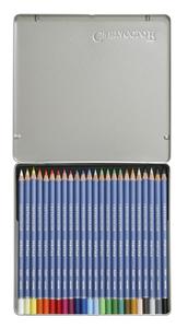 """Набор профессиональных акварельных карандашей """"MARINO"""", 24 цвета в металлической коробке с картонной обложкой"""