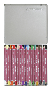 """Набор профессиональных цветных карандашей """"KARMINA"""", 24 цвета в металлической коробке с картонной обложкой"""