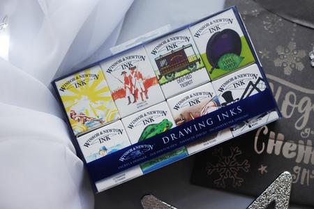 Набор туши Winsor & Newton Коллекция Вильям + подарочная упаковка